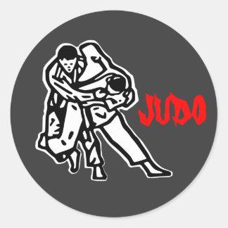 autoadhesivo judo Harai goshi Pegatina Redonda