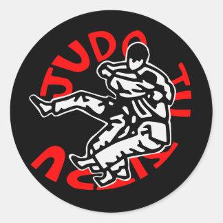 autoadhesivo judo ji jitsu pegatina redonda