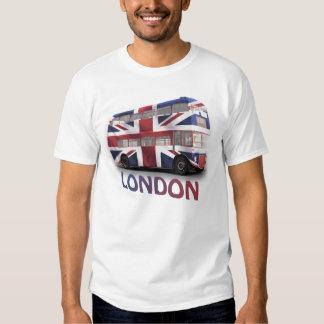 Autobús de Londres con Union Jack Camisetas
