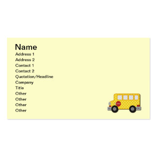 Autobús escolar amarillo tarjetas de visita