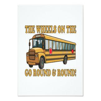 Autobús escolar invitación 12,7 x 17,8 cm