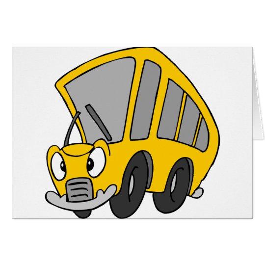 Autobús escolar torpe tarjeta de felicitación