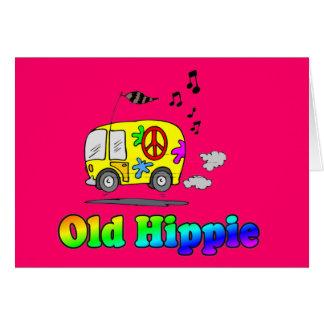 Autobús viejo del Hippie Felicitacion