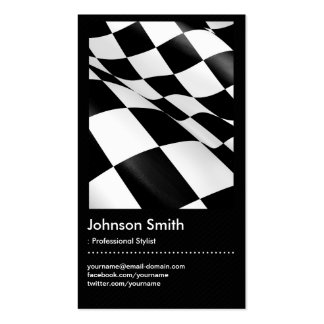 Automotriz - bandera a cuadros de la tela escocesa tarjetas de visita