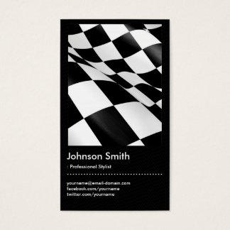 Automotriz - bandera a cuadros de la tela escocesa tarjeta de visita