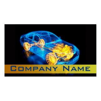 Automotriz/el competir con/tarjeta de visita del c tarjetas de visita