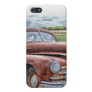 Automóvil clásico viejo oxidado del vintage del co iPhone 5 carcasas