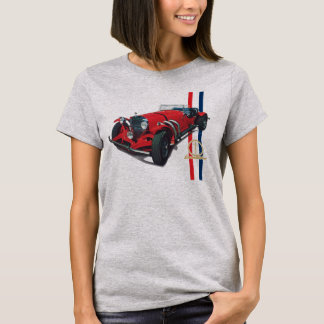 Automóvil descubierto rojo SSK de la serie de Camiseta