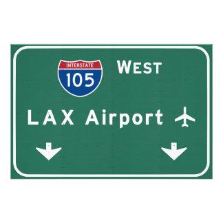Autopista Ca del aeropuerto I-105 W de Los Ángeles Fotografia