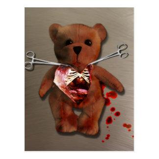 Autopsia de T. Bear Postcard Postal