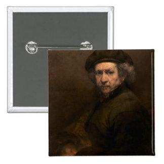 Autorretrato, 1659 (aceite en lona) chapa cuadrada 5 cm