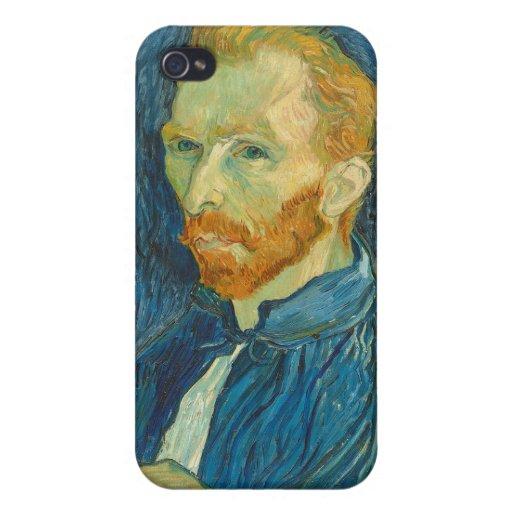 Autorretrato, 1889 (aceite en lona) iPhone 4 carcasas