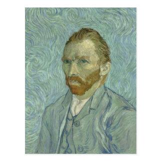 Autorretrato 1889 de Vincent van Gogh Postal