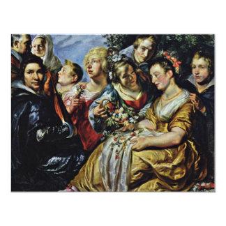 Autorretrato con su familia y suegro, A Invitación 10,8 X 13,9 Cm