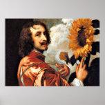 Autorretrato con un girasol, ilustraciones 1632 posters