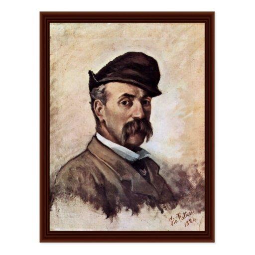 Autorretrato de cincuenta años de Fattori Juan Postales