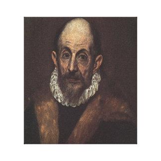 Autorretrato de El Greco Impresión En Lona