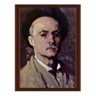 Autorretrato de Grigorescu Nicolae (la mejor calid Tarjeta Postal