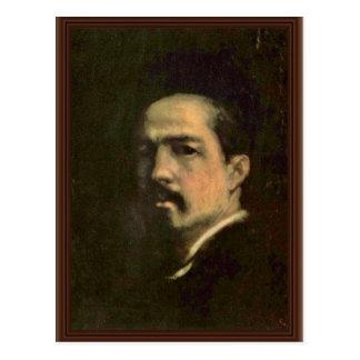 Autorretrato de Grigorescu Nicolae (la mejor calid Postal