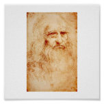 Autorretrato de Leonardo da Vinci circa 1510-1515 Posters