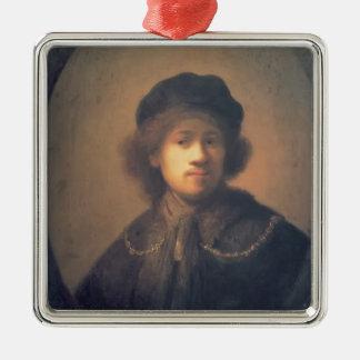 Autorretrato de Rembrandt con la cadena de la boin Ornamento Para Arbol De Navidad