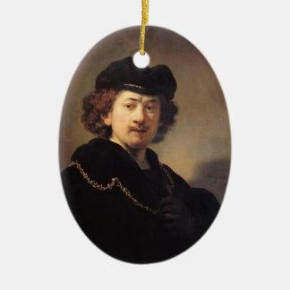Autorretrato de Rembrandt con la cadena del gorra  Adorno De Navidad