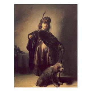 Autorretrato de Rembrandt en el traje oriental, ca Tarjeta Postal