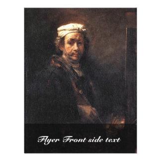 Autorretrato de Rembrandt Harmensz. Van Rijn Folleto 21,6 X 28 Cm