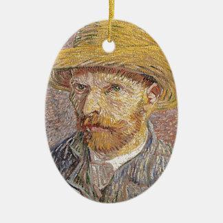 Autorretrato de Van Gogh Adorno De Cerámica