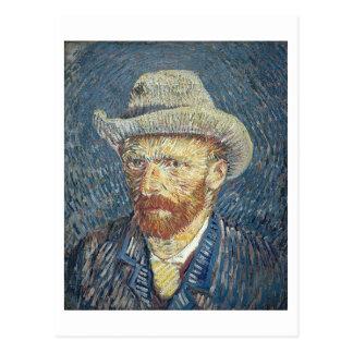 Autorretrato de Vincent van Gogh el | con el Postal