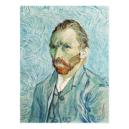 Autorretrato de Vincent van Gogh Postal
