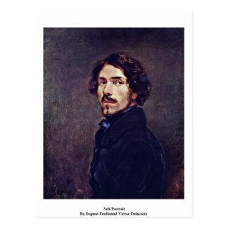 Autorretrato del vencedor Delacroix de Eugène Postal