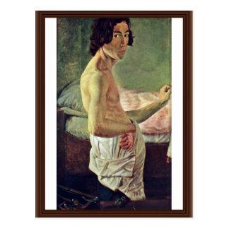 Autorretrato en el caballete del vencedor Emilio Postal
