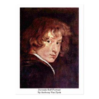 Autorretrato juvenil de Anthony Van Dyck Postal