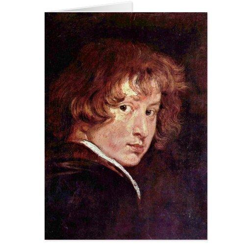Autorretrato juvenil de Anthony Van Dyck Felicitaciones