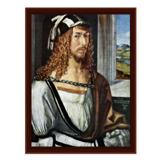 Autorretrato, por Albrecht Dürer Postal