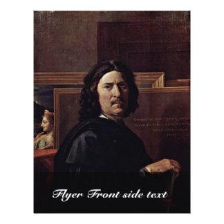 Autorretrato, por Poussin Nicolás (la mejor calida Folleto 21,6 X 28 Cm