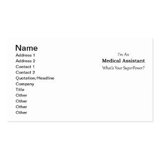 Auxiliar médico tarjetas de visita