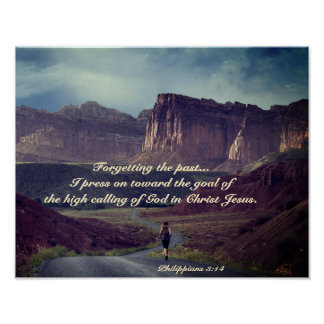 Avanzo hacia la biblia del 3:14 de los filipenses póster