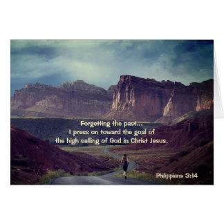 Avanzo hacia la biblia del 3:14 de los filipenses tarjeta de felicitación