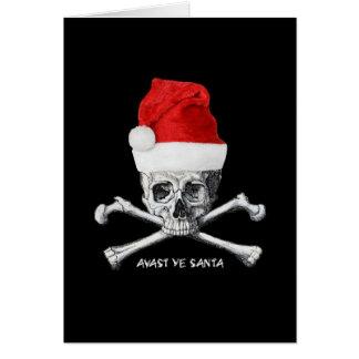 Avast tarjeta de Cristmas del pirata del día de