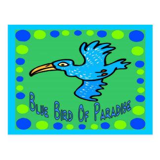 Ave del paraíso azul 3 postal