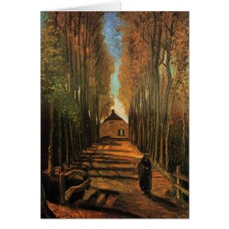 Avenida de álamos en otoño de Vincent van Gogh Tarjeta De Felicitación