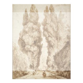 Avenida de Cypress en el chalet d Este Tivoli por Tarjetones