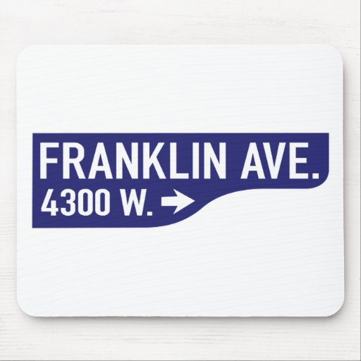 Avenida de Franklin, Los Ángeles, placa de calle d Alfombrillas De Ratón