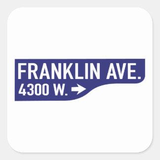 Avenida de Franklin, Los Ángeles, placa de calle Pegatina Cuadrada