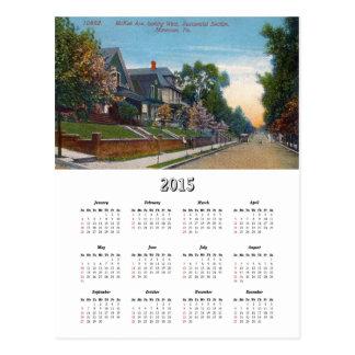 Avenida de McKee del vintage, Monessen, calendario Postal