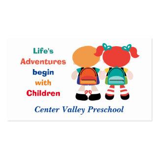 Aventura de la vida con los niños preescolares tarjetas de visita