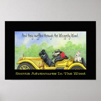 Aventuras del escocés en la madera de Whippety Póster