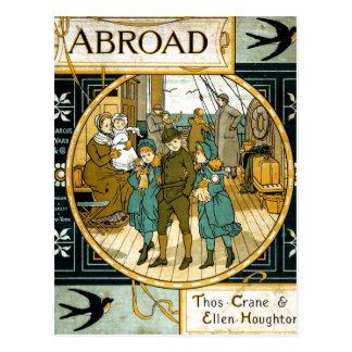 Aventuras en el extranjero en nave tarjeta postal